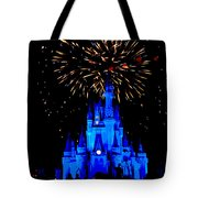 Metallic Castle Tote Bag