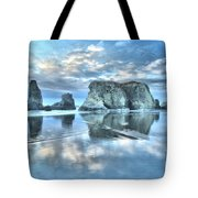 Metallic Cloud Reflections Tote Bag