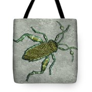 Metallic Green And Gold Prehistoric Insect  Tote Bag