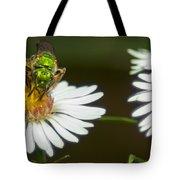 Metallic Green Wasp Tote Bag