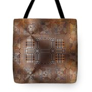 Metallic Pattern Tote Bag