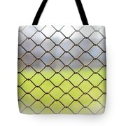 Metallic Wire Fence Tote Bag