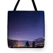 Mammoth Mountain At Night Tote Bag