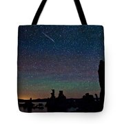 Meteors Over Mono Lake Tote Bag