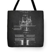 Method Of Drilling Wells Patent From 1906 - Dark Tote Bag