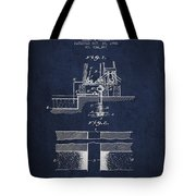 Method Of Drilling Wells Patent From 1906 - Navy Blue Tote Bag