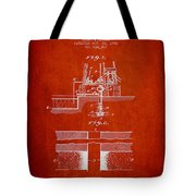 Method Of Drilling Wells Patent From 1906 - Red Tote Bag