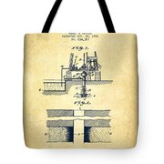 Method Of Drilling Wells Patent From 1906 - Vintage Tote Bag