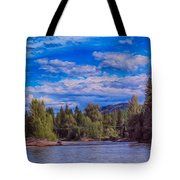 Methow River Crossing Tote Bag
