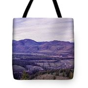 Methow River Valley Via Sun Mtn Lodge Tote Bag by Omaste Witkowski