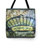 Metro Abbesses Tote Bag