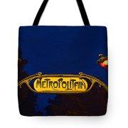 Metropolitain #1 Tote Bag