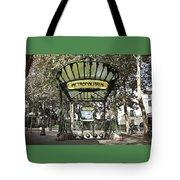 Metropolitain Entrance Paris Tote Bag