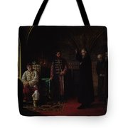 Metropolitan Philip Of Moscow 1507-90 With Tsar Ivan The Terrible 1530-84 Oil On Canvas Tote Bag
