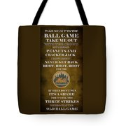 Mets Peanuts And Cracker Jack  Tote Bag