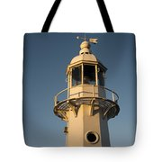 Mevagissey Lighthouse In The Evening Tote Bag
