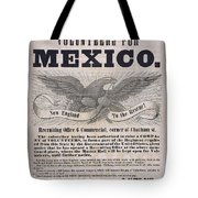 Mexican American War Flyer Tote Bag