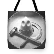 Mexican Revolution Sombrero With Hammer Tote Bag