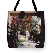 Mexico Garden Patio By Tom Ray Tote Bag