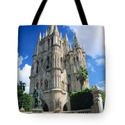 Mexico, View Of Parroquia Church San Tote Bag by Kyle Rothenborg