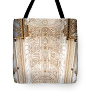 Mezquita Cathedral Ceiling In Cordoba Tote Bag