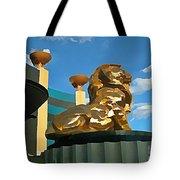 Mgm Lion In Las Vegas Tote Bag