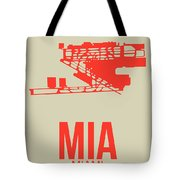 Mia Miami Airport Poster 3 Tote Bag by Naxart Studio