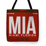Mia Miami Airport Poster 4 Tote Bag by Naxart Studio