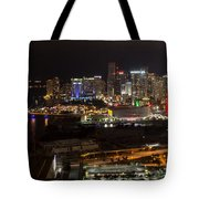 Miami After Dark II Skyline  Tote Bag