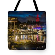 Miami Bayside And Freedom Tower Tote Bag