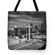 Miami Beach-0152bw Tote Bag