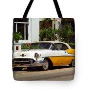 Miami Beach Classic Car Tote Bag
