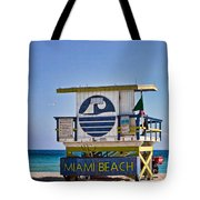 Miami Beach Lifeguard Station Tote Bag