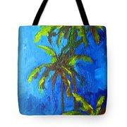 Miami Beach Palm Trees In A Blue Sky Tote Bag