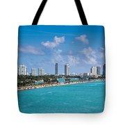 Miami Beach Skyline Tote Bag