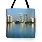 Miami Brickell Skyline Tote Bag