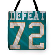 Miami Dolphins Undefeated Season Tote Bag