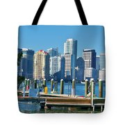 Miami On The Docks Tote Bag
