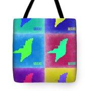 Miami Pop Art Map 3 Tote Bag