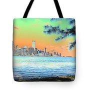 Miami Skyline Abstract II Tote Bag