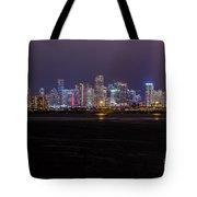 Miami Skyline Bay View Tote Bag