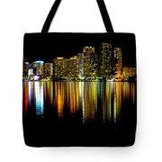 Miami Skyline II High Res Tote Bag