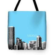 Miami Skyline - Sky Blue Tote Bag