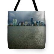 Miami Skyline Storm Tote Bag