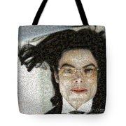 Michael Jackson - Fly Away Hair Mosaic Tote Bag