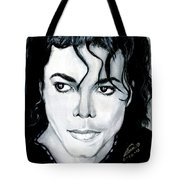 Michael Jackson Portrait Tote Bag