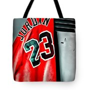 Michael Jordan 23 Shirt Tote Bag