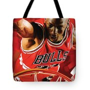 Michael Jordan Artwork 3 Tote Bag by Sheraz A