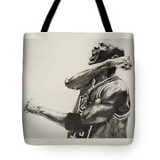 Michael Jordan Tote Bag by Jake Stapleton