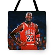 Michael Jordan Tote Bag by Paul Meijering